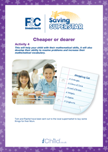Thumbnail image for the 7-11 years (4) Cheaper or dearer activity.