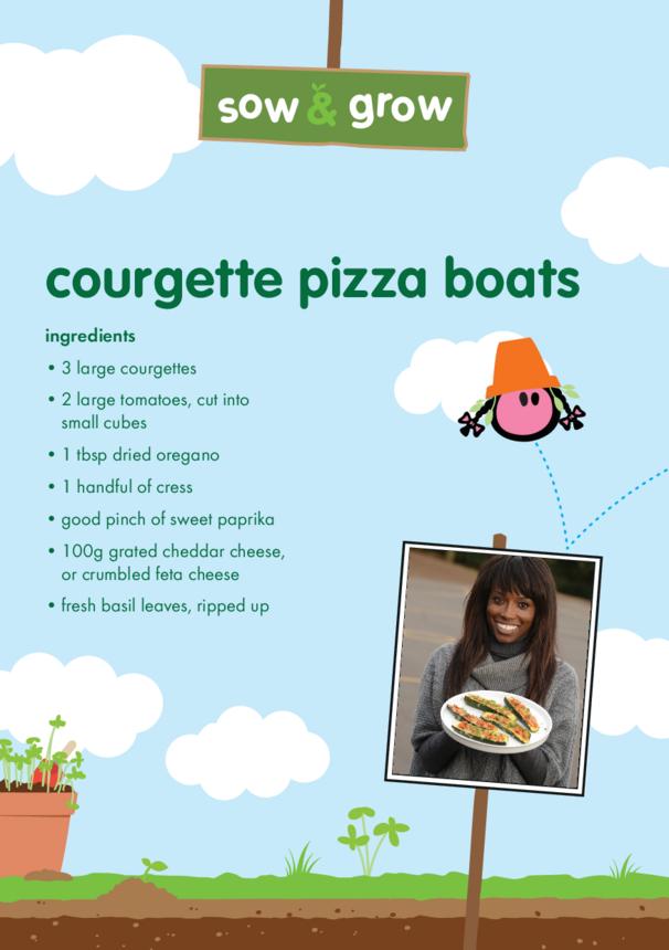 innocent - Courgette Pizza Boats Recipe