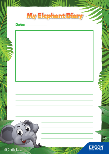 Thumbnail image for the 1) Epson Elephant Diary Template- Large Photo Space activity.