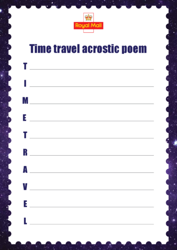 Thumbnail image for the Primary 1) Time Travel Acrostic Poem activity.