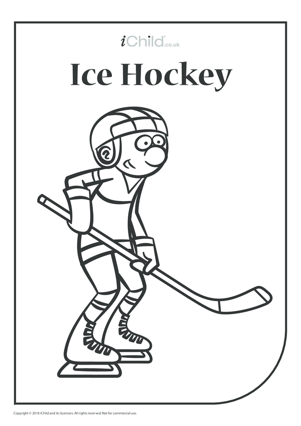Ice Hockey Colouring in Picture