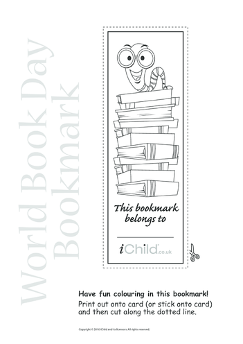 Thumbnail image for the World Book Day Bookmark activity.