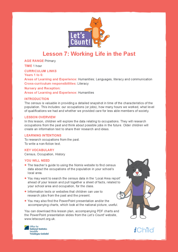 Welsh/English: Let's Count! Lesson 7: Working Life in the Past