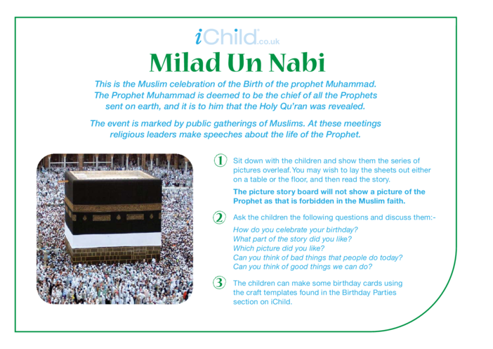 Thumbnail image for the Milad un Nabi Religious Festival Story activity.