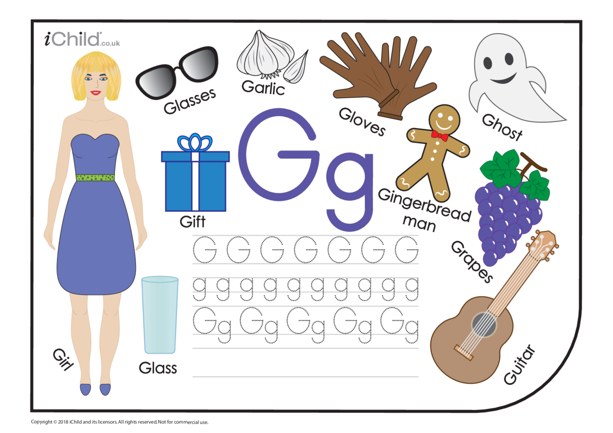 G: Writing the Letter Gg