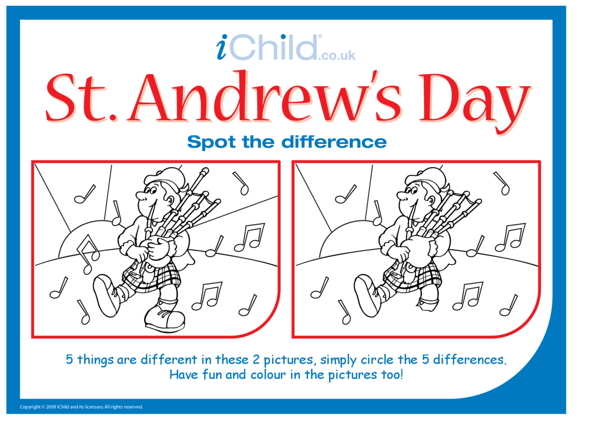 St. Andrew's Day Spot the Difference