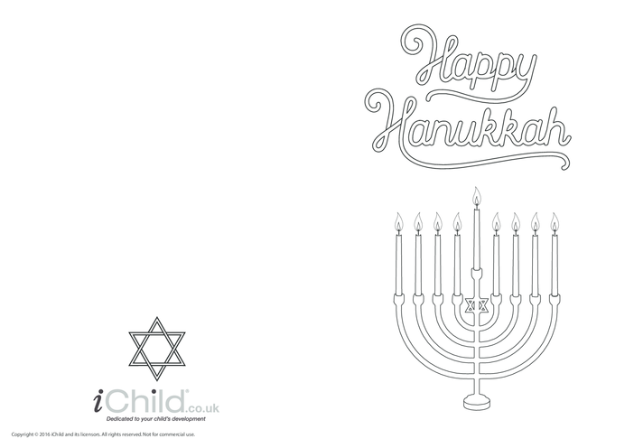 Thumbnail image for the Happy Hanukkah Card activity.
