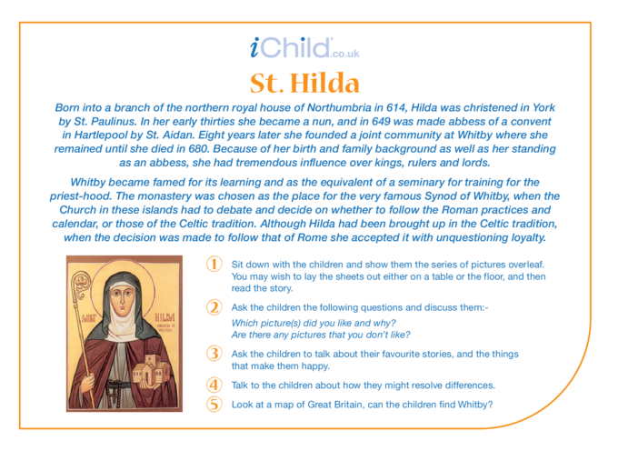 Thumbnail image for the St. Hilda Religious Festival Story activity.