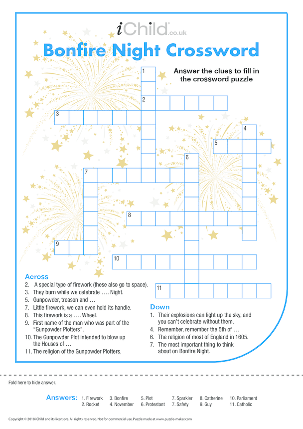 Bonfire Night Crossword