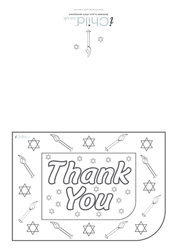 Thumbnail image for the Hanukkah Thank You Card activity.