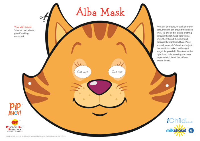 Thumbnail image for the Alba Face Mask (Pip Ahoy!) activity.