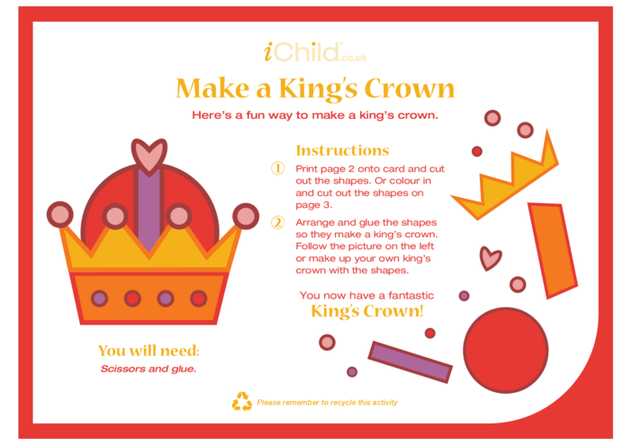Thumbnail image for the Make a King's Crown activity.