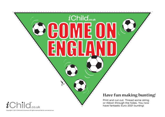 Thumbnail image for the Come on England Football Bunting activity.