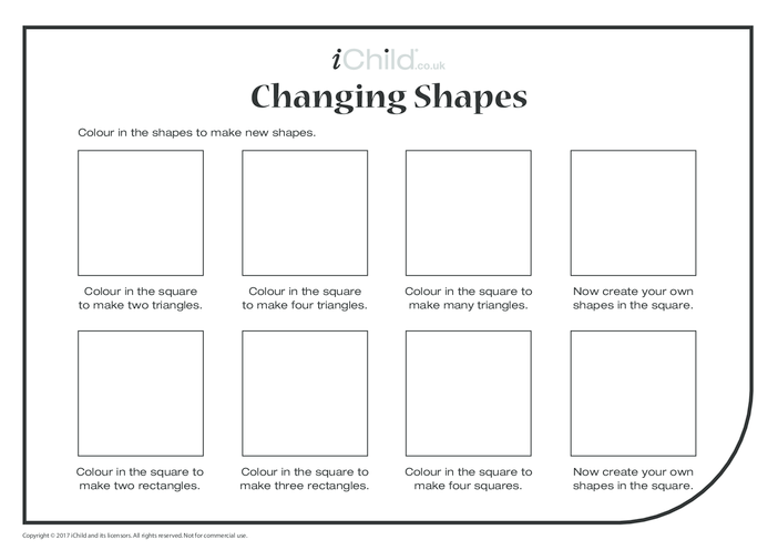 Thumbnail image for the Changing Shapes (Hard) activity.