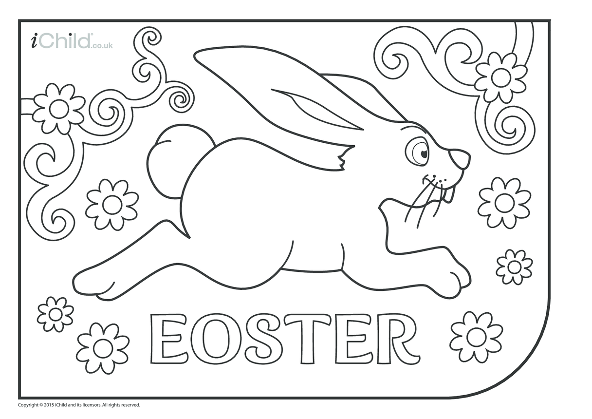 Eostre Colouring in Picture