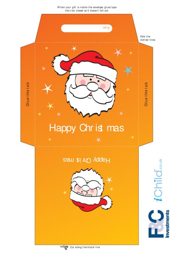 Christmas Money Envelope- Santa