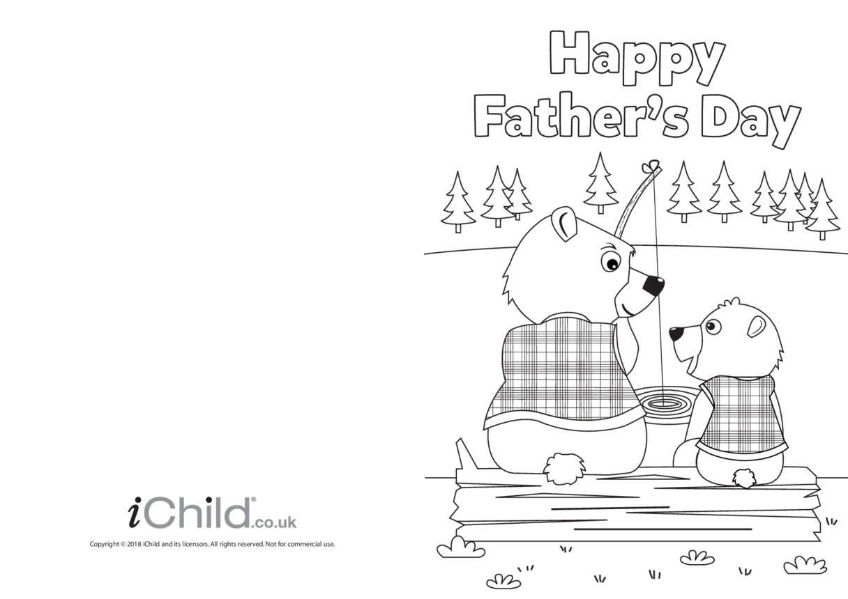 Father's Day Card - Daddy Bear Fishing