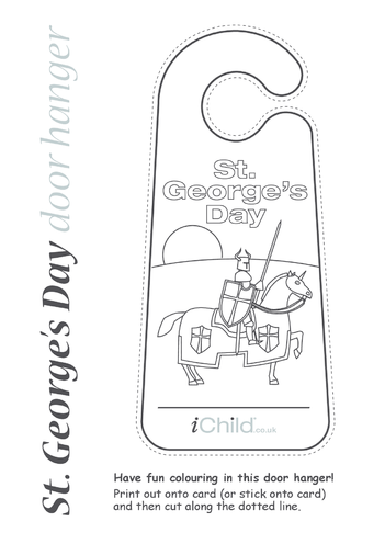 Thumbnail image for the St. George's Day Door Hanger activity.