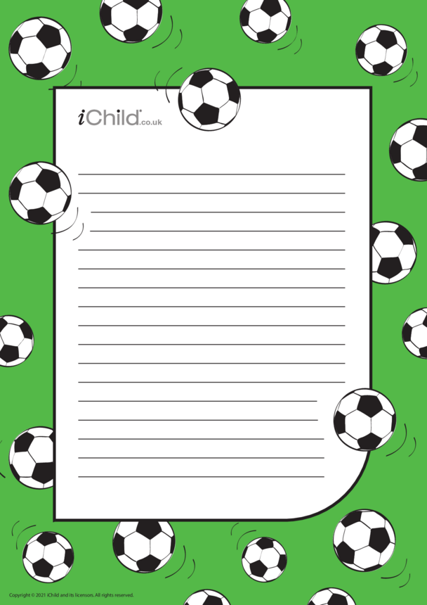 Football Lined Writing Paper Template
