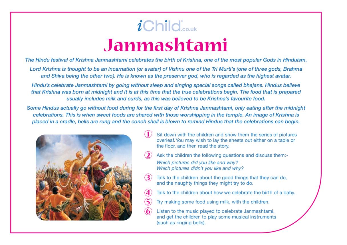 Janmashtami Religious Festival Story