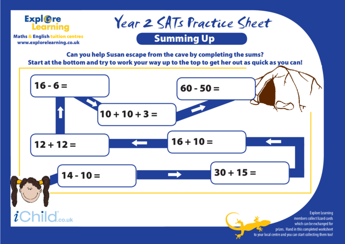Thumbnail image for the SATS Practice Paper Year 2: Summing Up activity.