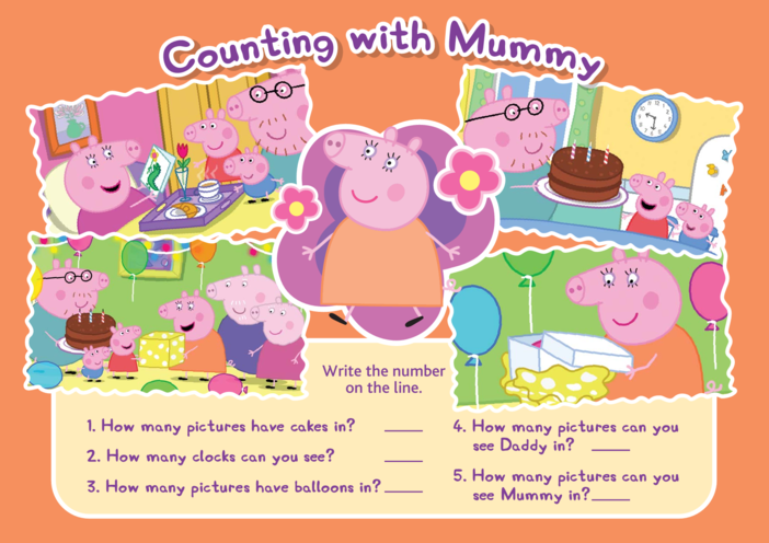 Thumbnail image for the Peppa Pig Counting with Mummy activity.