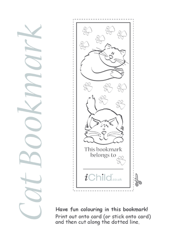 Thumbnail image for the Cat Bookmark activity.