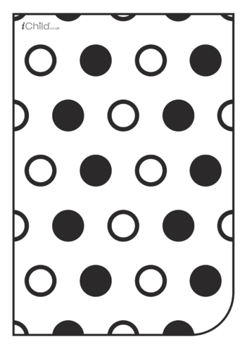 Thumbnail image for the White & Black Poster: Circle Pattern activity.
