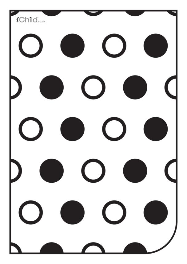 White & Black Poster: Circle Pattern