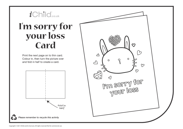 Thumbnail image for the I'm Sorry for Your Loss - Sympathy Card activity.