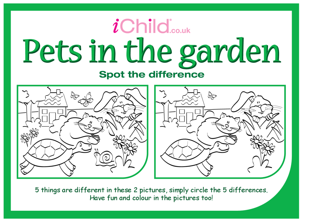 Spot the Difference In The Garden