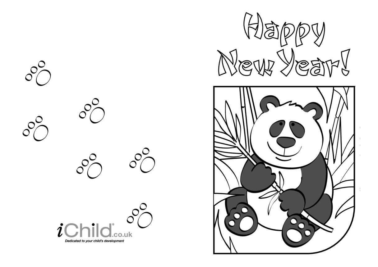 Chinese New Year Card-Panda