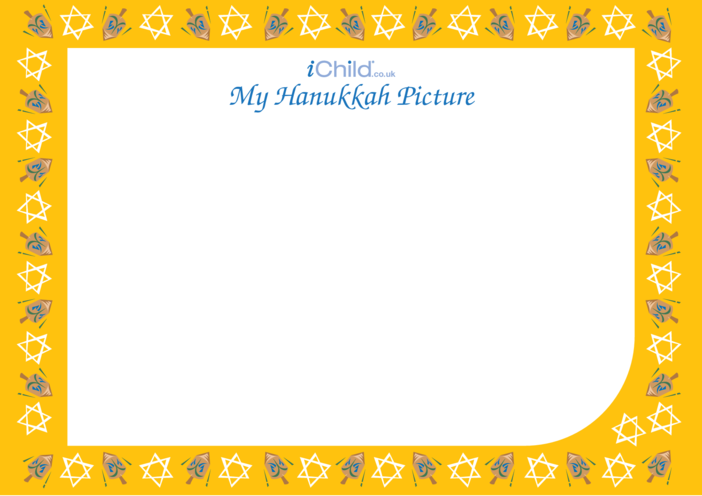 Thumbnail image for the Hanukkah Blank Drawing Template activity.