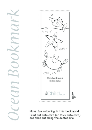 Thumbnail image for the Ocean Bookmark activity.