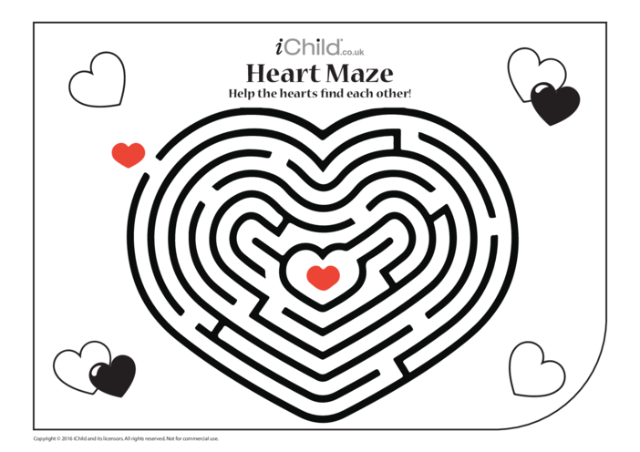 Thumbnail image for the Heart Maze activity.