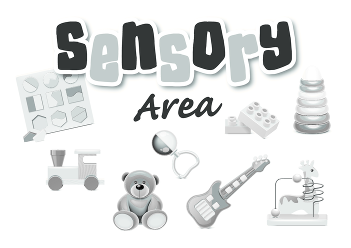 Thumbnail image for the Sensory Area (black & white) - Signs & Posters activity.