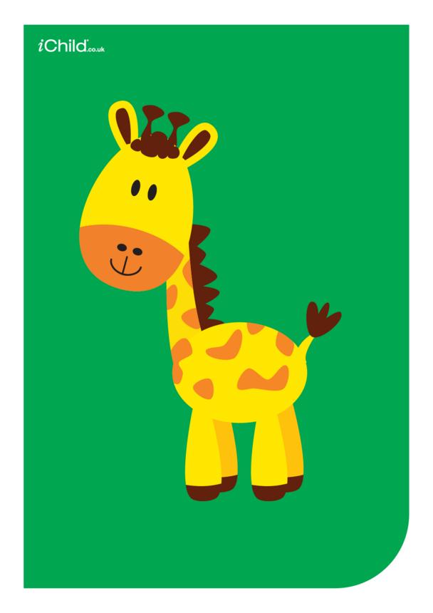 Contrasting Colours Poster: Giraffe