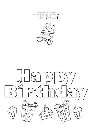 Thumbnail image for the Birthday Card design - Happy Birthday activity.