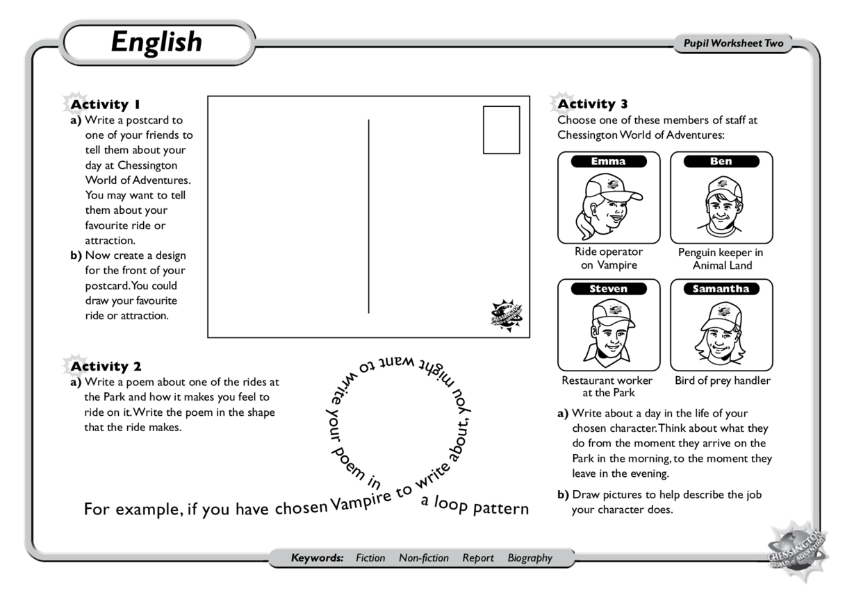 English: KS1 and KS2