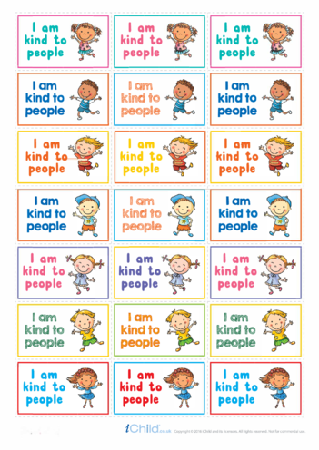 Thumbnail image for the I Am Kind to People Large Sticker Sheet activity.