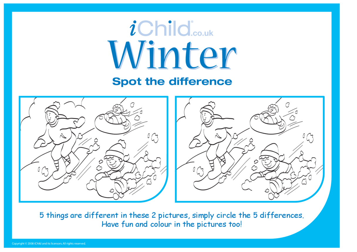 Winter Spot the Difference