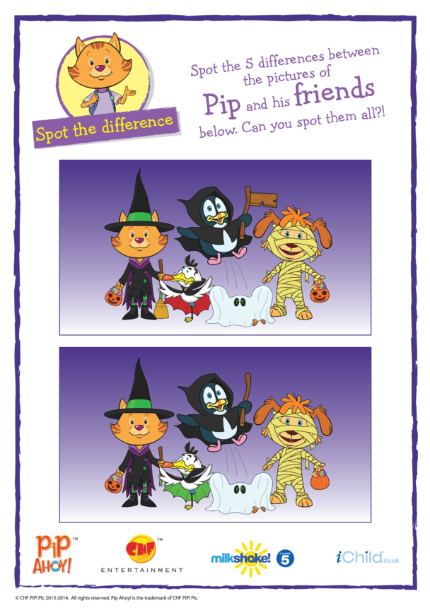 Pip Ahoy! Halloween Spot the Difference (Pip Ahoy!)