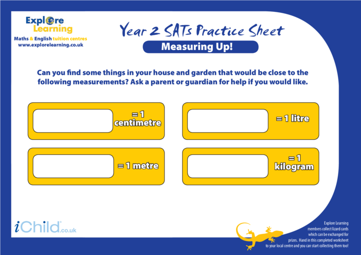 Thumbnail image for the SATS Practice Paper Year 2: Measuring Up activity.