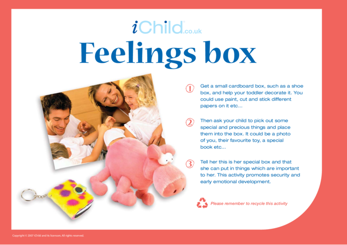 Thumbnail image for the Feelings Boxes activity.