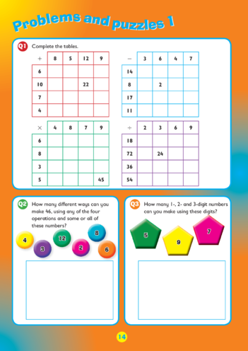 Thumbnail image for the Collins Easy Learning KS2 Maths, Mental Maths, Problems and Puzzles 1 activity.