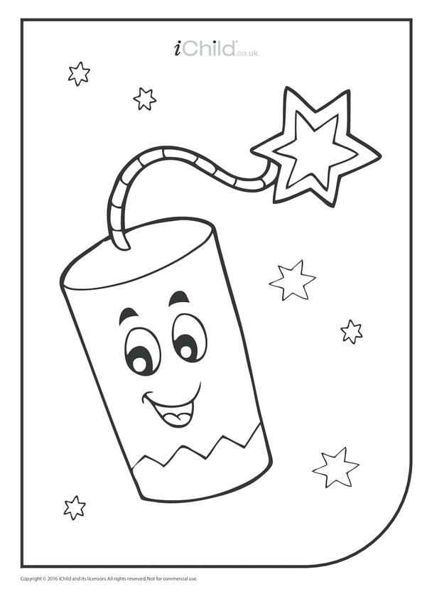 Friendly Firework Colouring in Picture