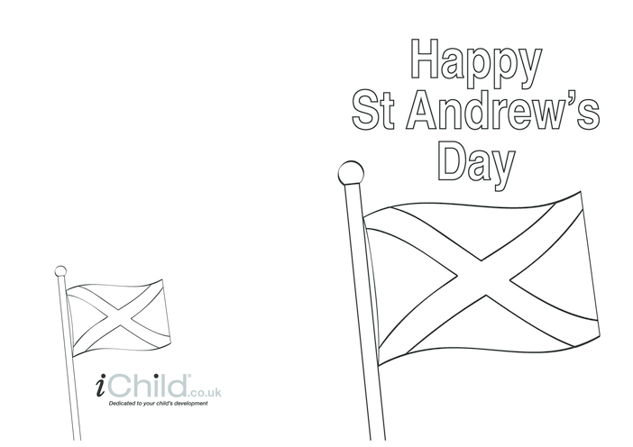 Thumbnail image for the St. Andrews Day Card activity.