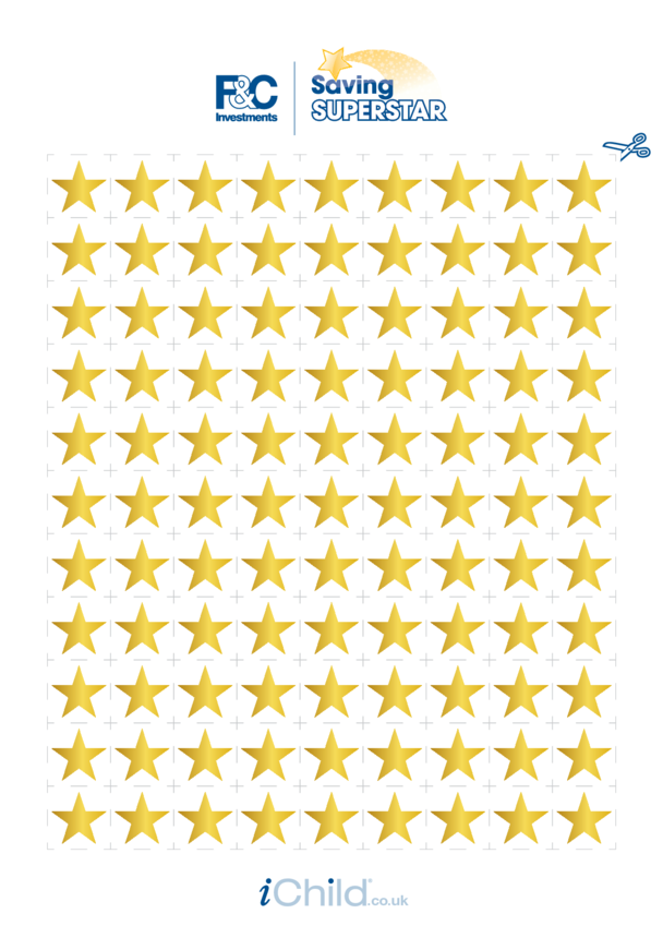 Gold Star Reward Chart Stickers (all ages)
