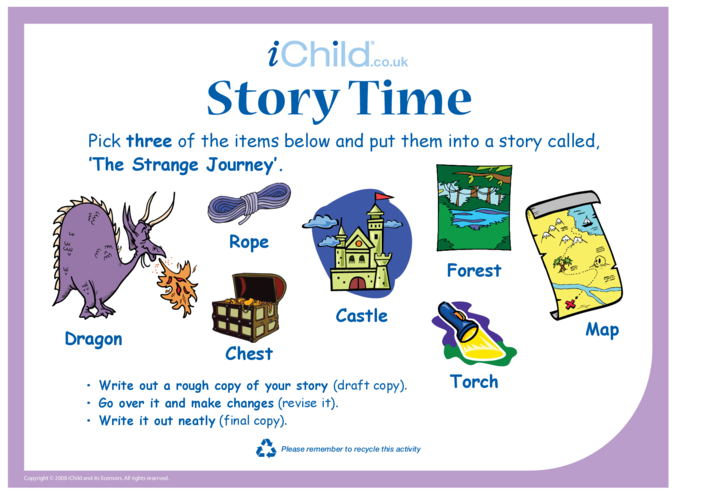 Thumbnail image for the Story Time - Journey activity.