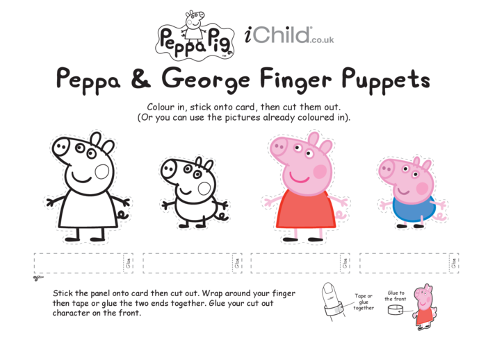 Thumbnail image for the Finger Puppets: Peppa & George activity.